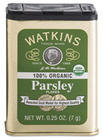 Watkins Parsley in a tin