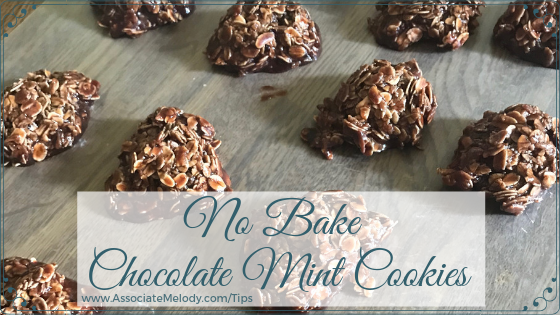 No Bake Chocolate Mint Cookies