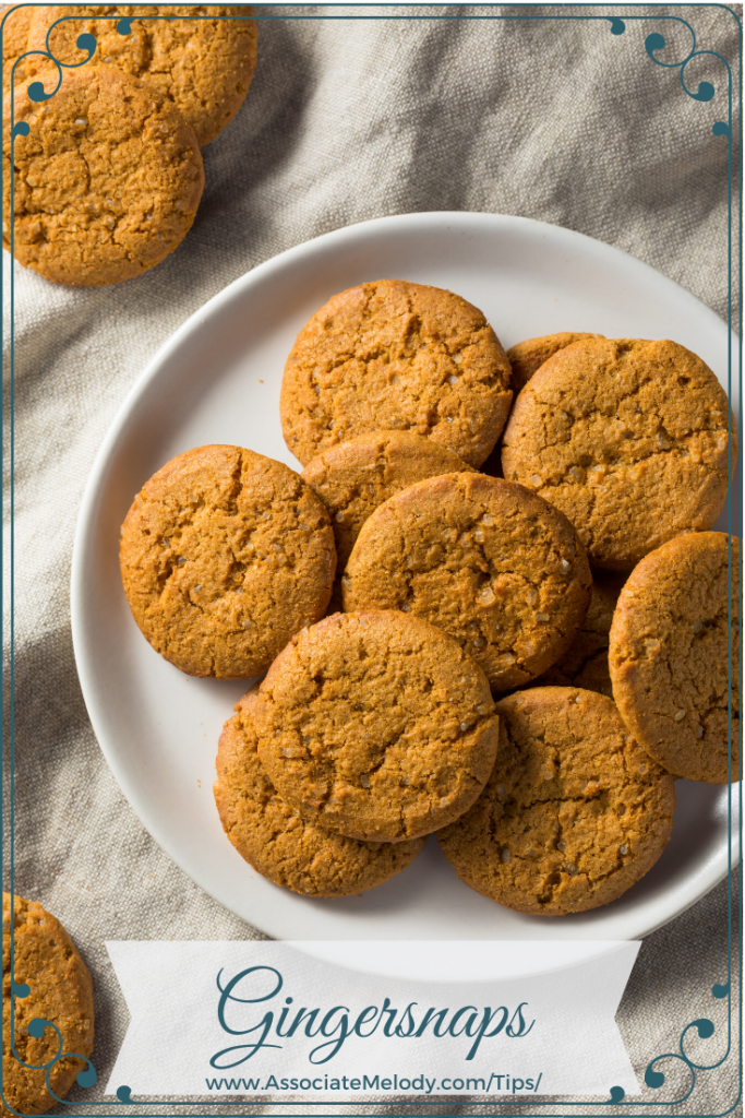 plate of delicious homemade gingersnap cookies