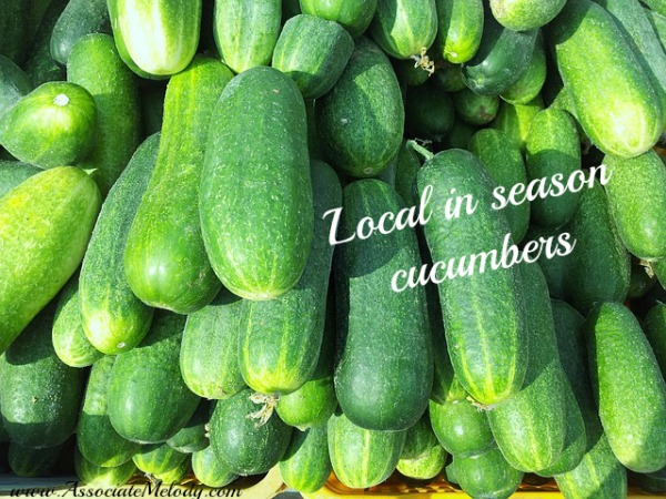 fresh in season cucumbers