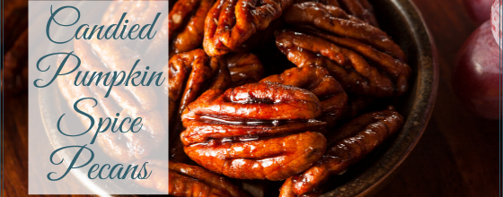 Candied Pumpkin Pie Spiced Pecans