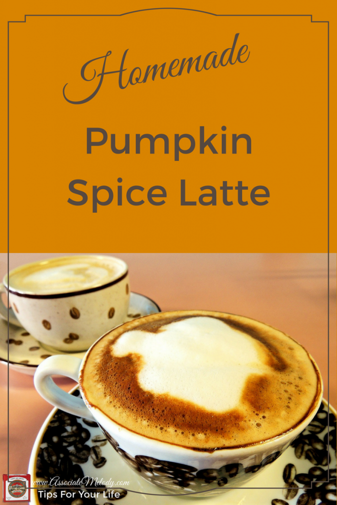 homemade pumpkin spice latte coffee