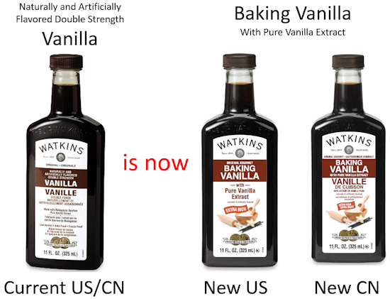 Watkins new baking vanilla extract