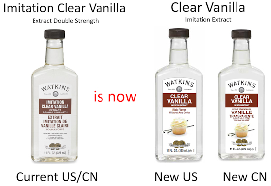Watkins new clear baking vanilla
