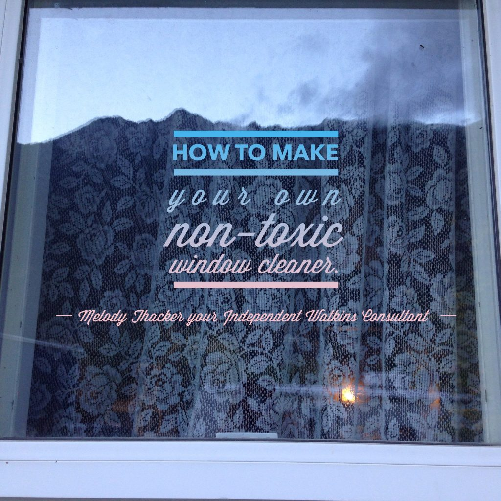 how to make your own nontoxic window cleaner