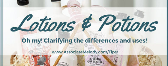 Differences and Uses for Lotions, Creams, Butters, Oils and Salves