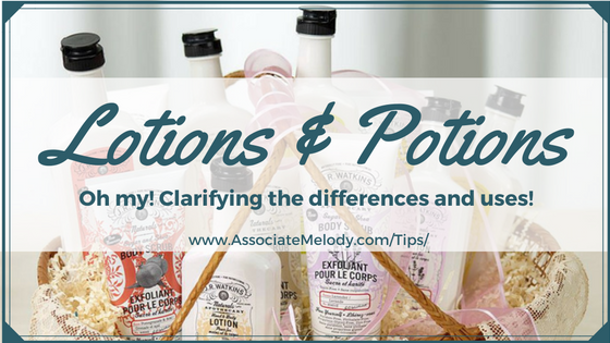 Lotions and potions, natural body care.