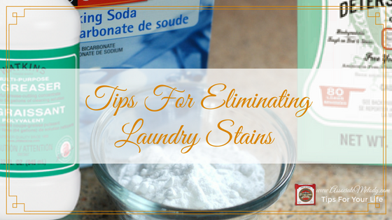 tips for eliminating laundry stains