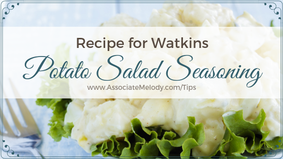 Watkins Secret Potato Salad Seasoning And Potato Salad Recipe