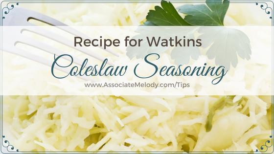 a bowl of Watkins coleslaw