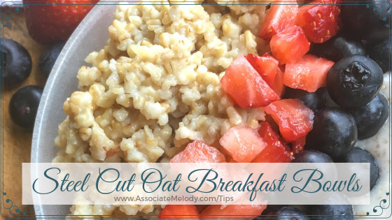 steel cut oats breakfast bowls