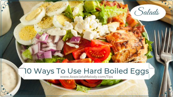 Ways to use hard boiled eggs in salads