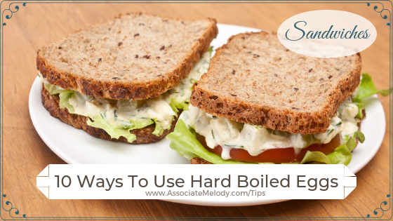 ways to use had-boiled eggs in sandwiches