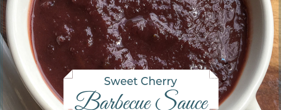 Sweet Cherry Barbecue Sauce