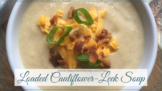 loaded cold cauliflower leek soup