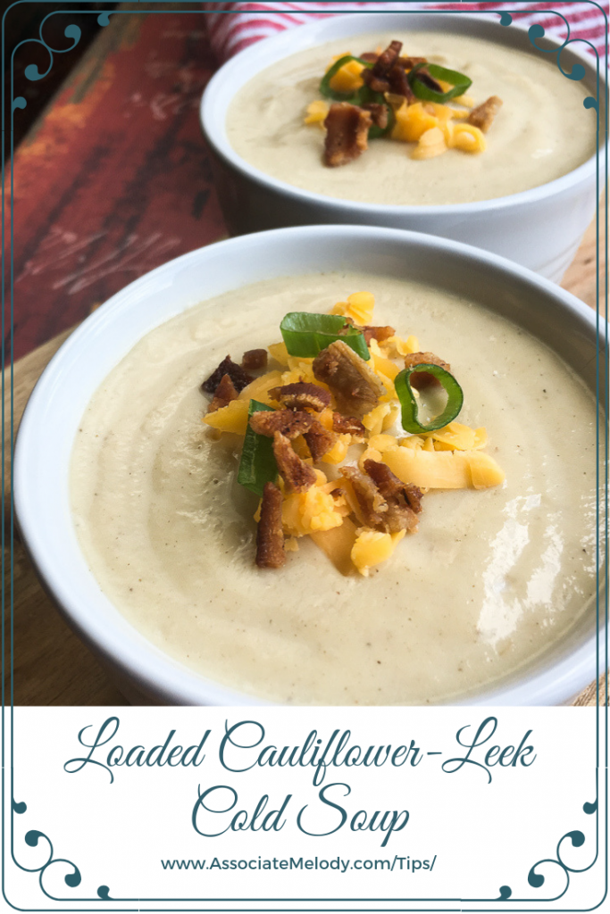 loaded cauliflower leek cold soup