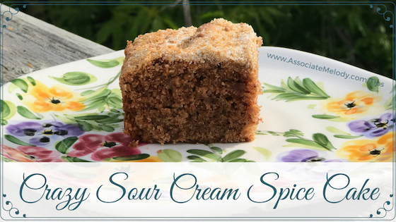 sour cream spice cake crazy-easy