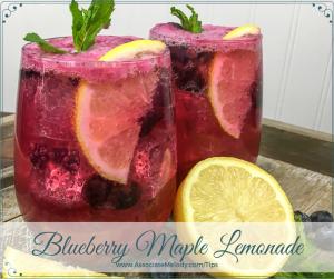 blueberry maple lemonade