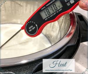 heat milk to 180 deg F