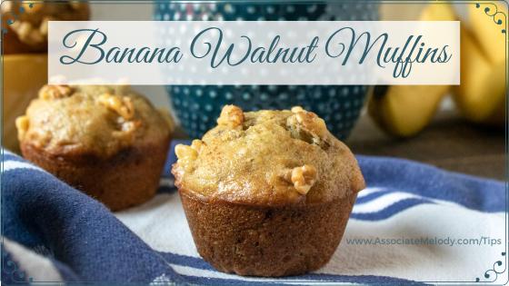moist banana walnut muffins