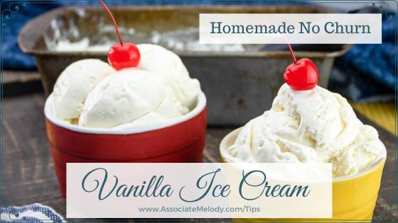 homemade ice cream made with condensed milk