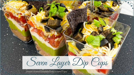 seven layer dip cups
