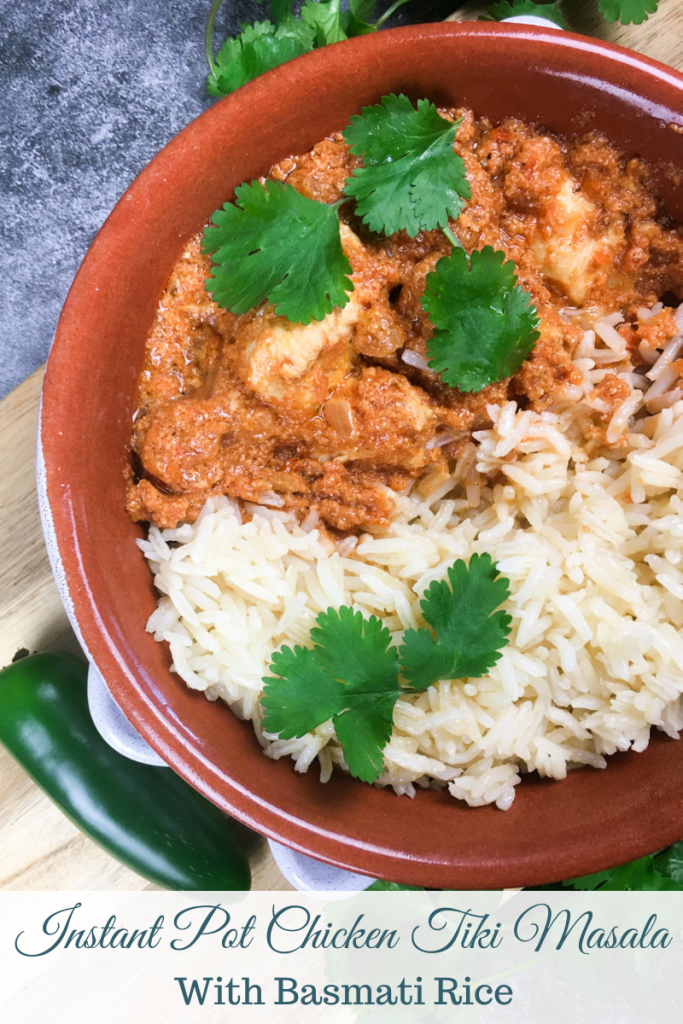 Chicken Tiki Masala cooked in an Instant Pot pressure cooker