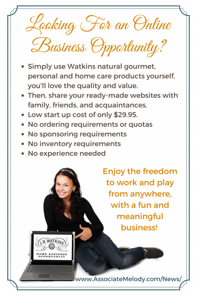 Enjoy the freedom to work and play from anywhere, with a fun and meaningful home-based Watkins business.
