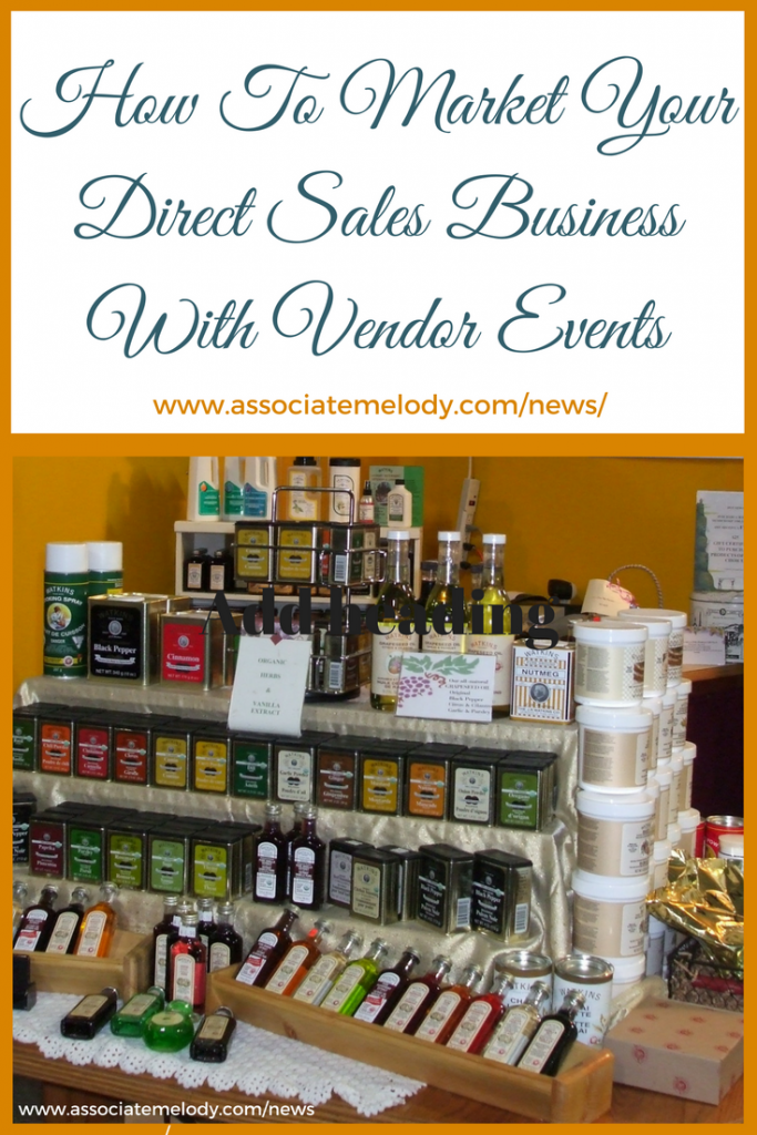 How To Market Your Direct Sales Business With Vendor Events