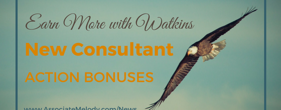 New Consultant Action Bonuses