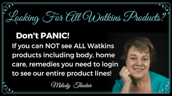 Can't see all Watkins products, don't panic