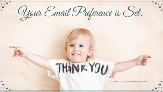 your email preferences have been set